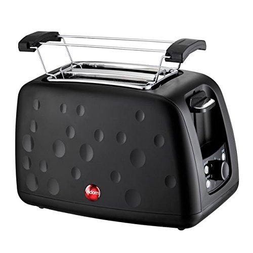 Toster, Eldomm TO245B, 900W, czarny, tost do śniadania? Ciepłe bułki do kolacji? Możesz codziennie mieć.