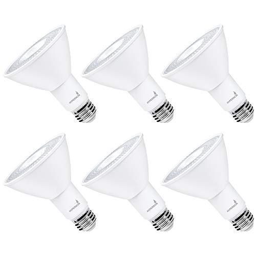 Hyperikon LED PAR30 Dimmable Bulb, 10W=70W, Long Neck Flood Light, CRI 80+, UL, Energy Star, Soft White, 6 Pack