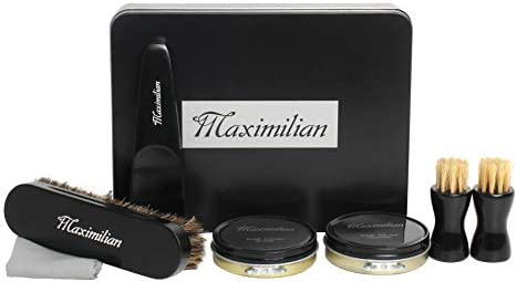 MAXIMILIAN shoe polish Deluxe Business Leather Shoe Care Kits Shoe Shine Brush Kit for Leather product image