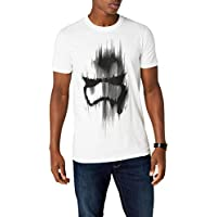 Star Wars Trooper Mask Camiseta, Blanco, 2XL para Hombre
