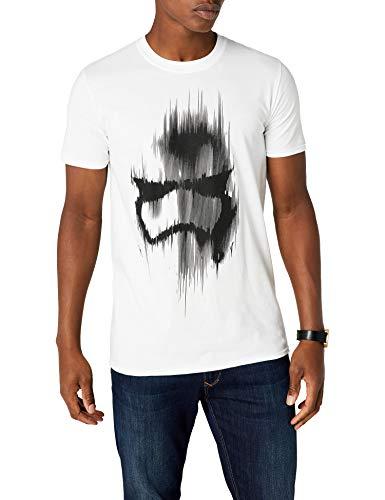 Star Wars Trooper Mask Camiseta, Blanco, L para Hombre