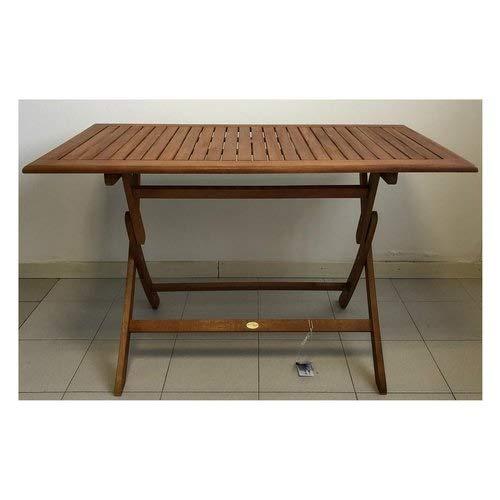 Amicasa. Tavolo da Giardino Pieghevole in legno Rettangolare 120x70 cm Vigo