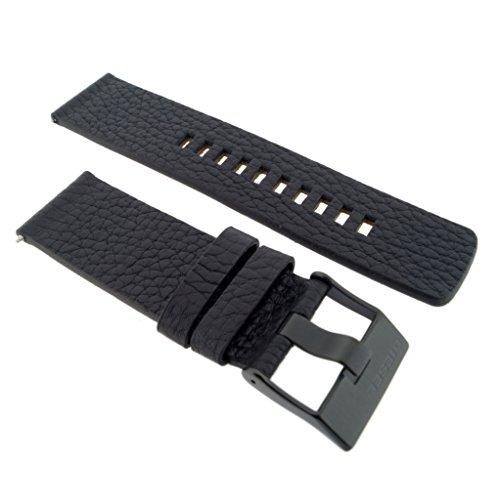 Diesel Uhrband Wechselarmband LB-DZ4311 Original Ersatzband DZ 4311 Uhrenarmband Leder 24 mm Schwarz