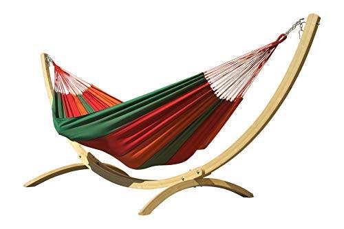 Macamex, set per amaca Siesta Grande Bahia, formato da un grandissimo telaio in legno con amaca brasiliana