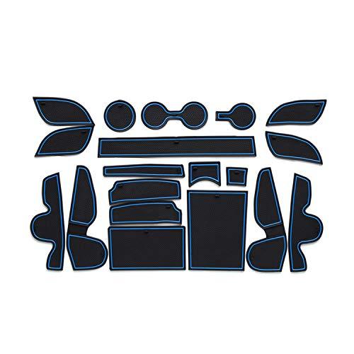 CDEFG para Hyundai Tucson TL Coche Accesorios Antideslizante Copa Mats Anti Slip Puerta Ranura de Acceso Kit de la Estera del cojín de la Ranura decoración de Interiores (Azul)