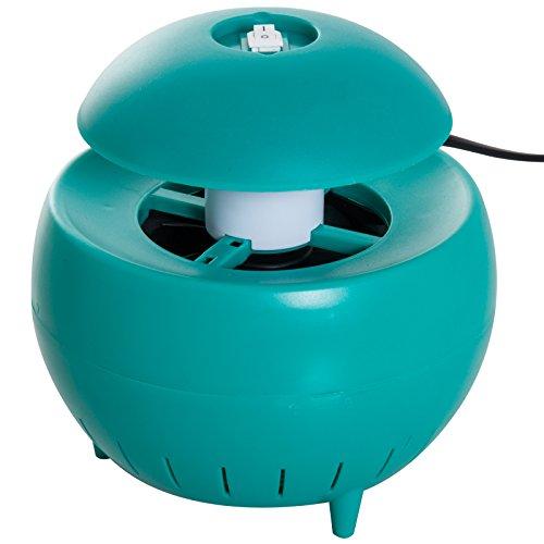 Outsunny LED-lamp muggennet vermogen 3 W voor interieur ABS-kunststof, 15 × 15 cm groen