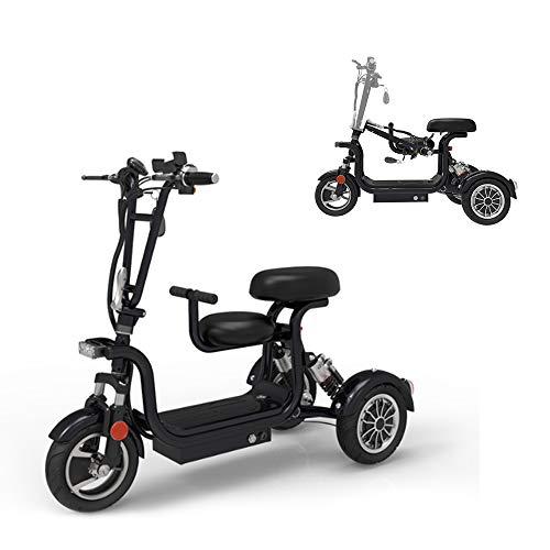 AA100 Scooter eléctrico 3 Ruedas, Silla de Ruedas eléctrica Plegable, convenientes biplaza...