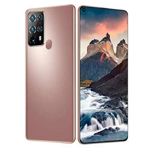 PNAYK S40U Smartphone Teléfonos Móviles 4G Sin SIM, con Pantalla 7,2 Pulgadas, 5000 mAh Batería 16MP + 32MP Cinco Cámaras Smartphone Desbloqueado,Latón,4GB+64GB