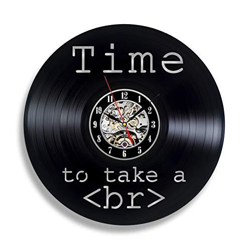 CHANGWW Handmade SolutionsWeb Developer Divertido Reloj de Pared de Vinilo de 12'- Regalo de Programador de código HTML