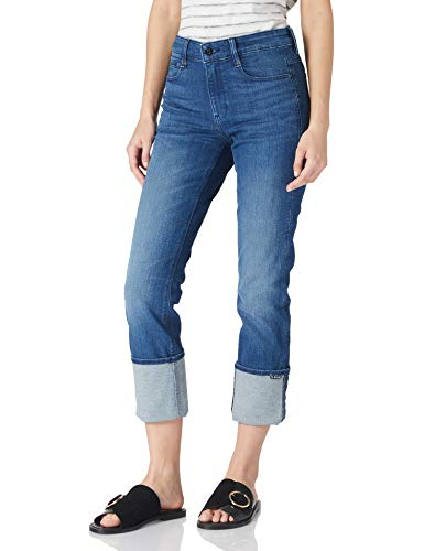 G-STAR RAW Noxer High Waist Straight Jeans, Blau (Faded Neptune Blue 6550-C571), 28W / 30L para Mujer