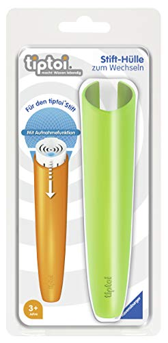 Ravensburger tiptoi Stifthülle zum Wechseln in Grün / Wechselhülle für den tiptoi Stift mit Aufnahmefunktion / Geeignet für Kinder ab 3 Jahren