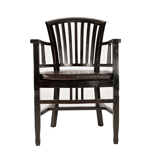 SIT-Möbel Armlehnstuhl, Mahagoni, Braun, l x 55 cm b x 95 cm h