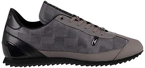 Cruyff de los Hombres Zapatillas de Cuero Montanya, Gris