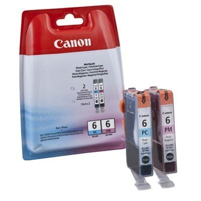 Canon BCI6 Pc/BCI6PM Tintenpatrone Multipack 6 -bci, Photo Cyan, Photo Magenta. Folie versiegelt