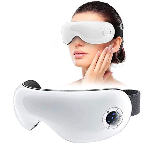 Bellelife Elektrisches Augenmassagegerät Mit, Augen Massagegerät Vibrationsmassage-Augenmaske mit Wärmefunktion Luftverdichtung Musik, 5 Massagemodus Augentherapie zur Linderung von Augenschmerzen