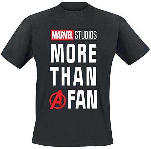 Marvel More Than A Fan Männer T-Shirt schwarz XL 100% Baumwolle Fan-Merch, Film, Comics
