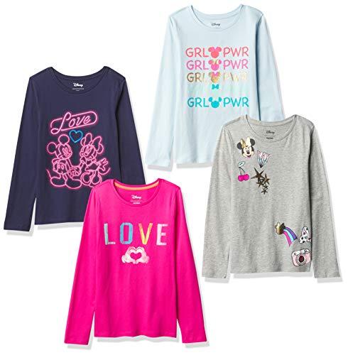 Spotted Zebra 4-Pack Long-Sleeve T-Shirts , Minnie Love, XXL (Textilien)