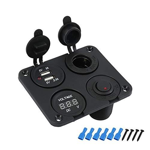 Junhua 12V Auto-Motorrad-Boot Zigarettenanzünder Embedded USB-Zigaretten-Feuerzeug-Auto Geändertes Auto-Zubehör
