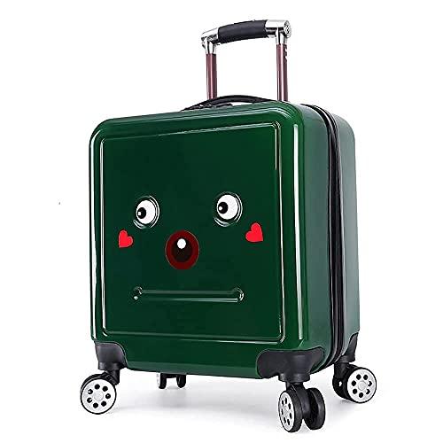 QIXIAOCYB Maleta infantil para equipaje universal con contraseña, color verde 18 pulgadas (color: verde, tamaño: 20 pulgadas)