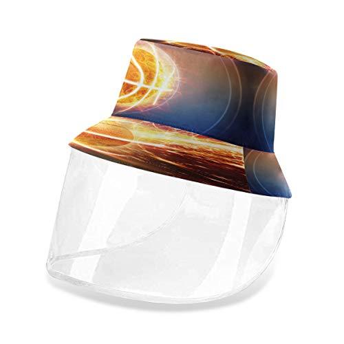 ALARGE - Gorro protector de pescador para deportes de baloncesto, antipolvo, sol, UV, con máscara de protección facial extraíble, para hombres y mujeres al aire libre