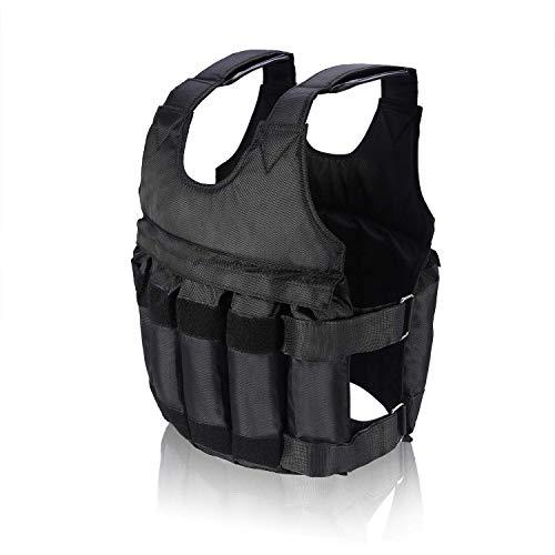 Sandeny 加重ベスト、50kg進化版 調整可能 最大負荷50キロ重量ベストジャケット 運動トレーニングチョッキ