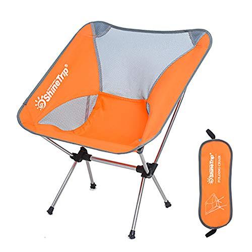 LGPNB Klapphocker Outdoor Camping Angelstuhl Picknickstuhl Mond Stuhl Regiestuhl Robuster Luftfahrt Aluminium Reisesitz Klappstuhl