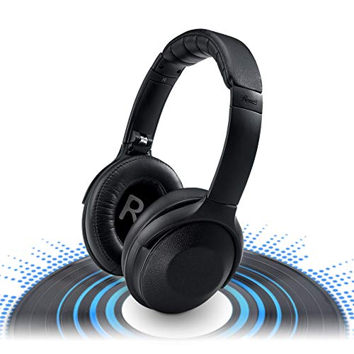 Rosewill Active Noise Cancelling Wireless Bluetooth Headphones, ANC Over Ear Wireless Headset Ideal for Travel, Rechargeable Long Lasting Battery Life/Continuous Play and Sound Quality