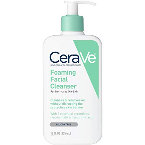 CeraVe Foaming Facial Cleanser, 12 Ounce (Pack of 3)