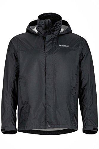 Marmot Men's PreCip Lightweight Waterproof Rain Jacket, Black, x Large