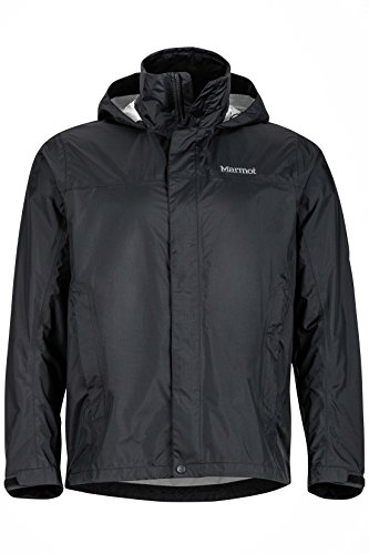 Marmot Men's PreCip Lightweight Waterproof Rain Jacket, Black, Small