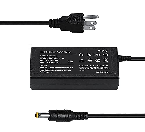 65W Laptop Charger AC Adapter for Acer Aspire 5 5235 5517 R5-572T R7-572 5733Z-4851 Acer Monitor H236HLG236HL S230HL S232HL G236HL Gateway NE56R41U NE71B06U Aspire 7 7741Z Supplied with Power Cord.