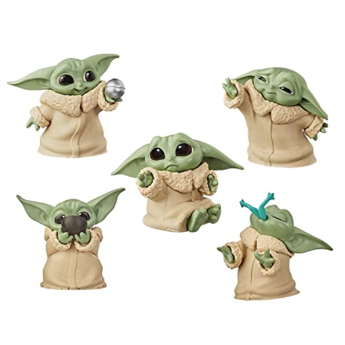 """RONIVAL Star Wars Small Yoda Toys Collection The Child Collectible Toys 2.2-Inch The Mandalorian """"Baby Yoda"""" S, 5-Packs"""