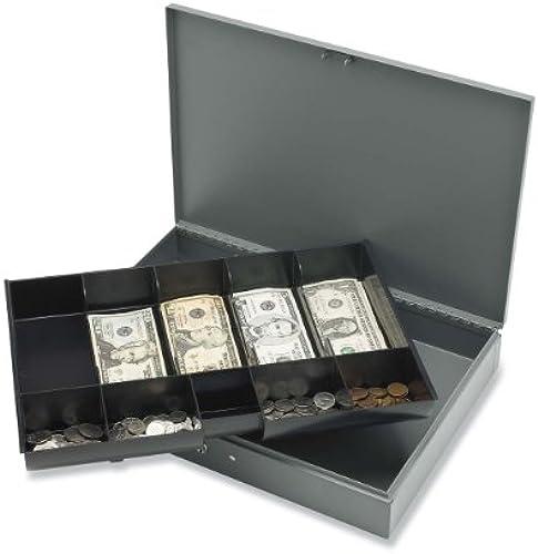 Sparco Produkte SPR15500 Cash Box-w-2 Schl-ssel-10-10-F-cher .50in.x15in.x2in -. Grau