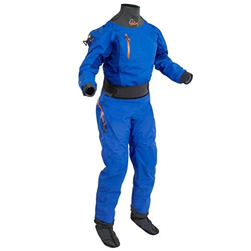 Palm Kayak or Kayaking - Womens Atom Back Zip Kayak Drysuit Dry Suit + Drop Seat Ocean Colbalt - Easy Stretch