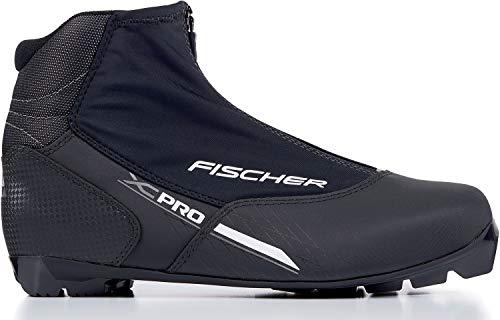 fischer XC Pro Chaussures de Ski de Fond pour Adulte Unisexe Argent Taille 48 Noir/argenté