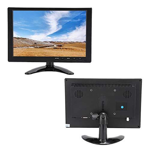 Monitor, Monitor LCD HD Universal de 10.1in 1280x800 16:10 Compatible con Entrada HDMI/VGA/AV para Raspberry Pi/Xbox / 360 / PS4 / CCTV Surveillance/Car Audio(EU)