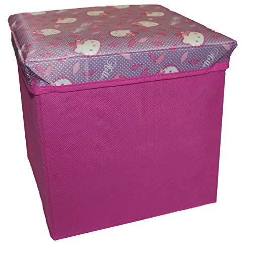 Delta Children's Products Hello Kitty lizenziert Canvas Spielzeugkiste Aufbewahrungsbox mit Deckel Box Truhe