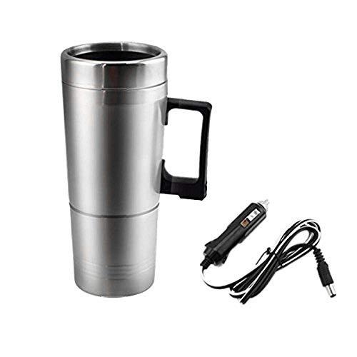 Chenbz Coches Calefacción Caldera, Simple 12V 300Ml portátil en el Coche Cafetera Tapa del pote del té del vehículo Copa Calefacción Botella de Agua al Aire Libre Caldera de té eléctrica