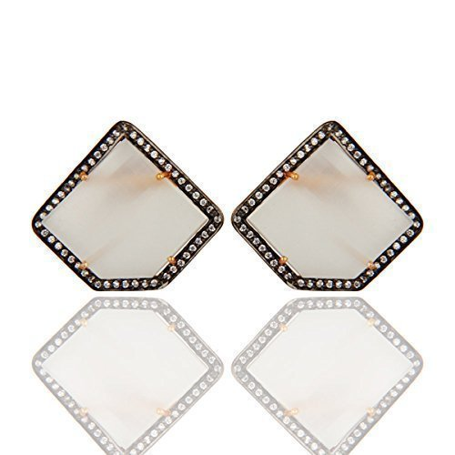 925 Sterling Silver White Stud for Earrings Jewelr excellence Fashion Mesa Mall Girls