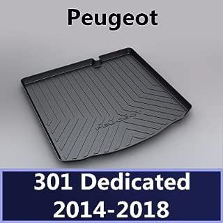 TUTU-C Car Boot Pad Carpet Cargo Mat Trunk Liner Tray Floor Mat Tray Floor Carpet For Peugeot 2010 2012 2013 2014 2015 2016 2017 2018 TPO material (301)