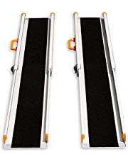 LIEKUMM 2 x Rampa de carga antideslizante, portátil, portátil, portátil, para escaleras, obstáculos, riel de carga plegable (MR207N-6) (180 x 21 x 5 cm)