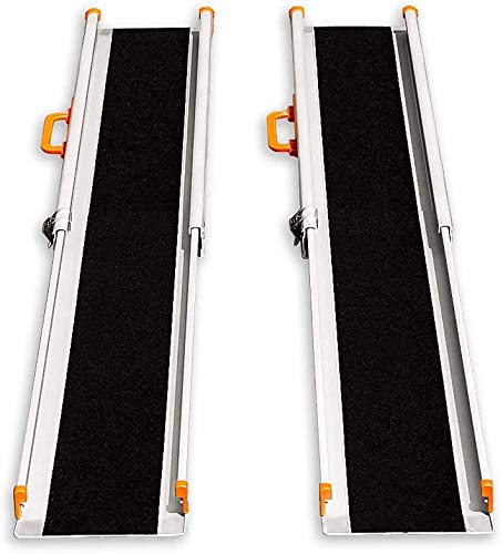 LIEKUMM - Rampa de carga antideslizante, portátil, portátil, portátil, para escaleras, obstáculos, riel de carga plegable (MR207N-6) (180 x 21 x 5 cm) ⭐