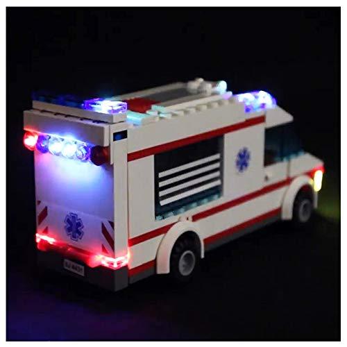 K99 Bloques de construcción Luminosa de Bricolaje, iluminación de Bloques de construcción LED Compatible con Lego 4431 Serie Ciudad Ambulancia (sin incluir Bloques)