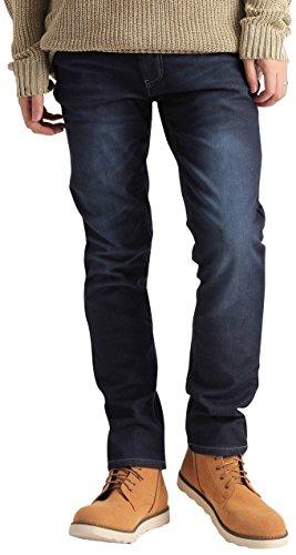 裏起毛 ストレッチ スリム スキニー 暖パン 防寒 暖かい スリムパンツ スキニーパンツ メンズ カジュアル ストリート ミディアムウォッシュデニム XLサイズ