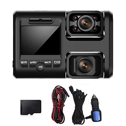 Grabador de automóviles Dual-Lente de alta definición Recorder de video de alta definición Soporte WiFi + GPS Grabación Sensor inteligente 170 ° Cámara impermeable adecuada para todos los coches