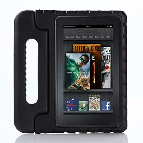 GHC PAD Cases & Covers For Amazon Kindle Fire HD8 HD 8 inch 2016 2017, Kids Cover Shockproof EVA Foam Stand Tablet Case Back Cases For Amazon Kindle Fire HD8 (Color : Black)