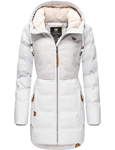 Ragwear Damen Jacke Wintermantel Winterparka Ashani Puffy Grau Block20 Gr. M