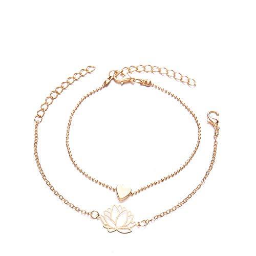 Bracelet Nouveau Simple Personnalité Féminine Creux Lotus Bracelets en Or Bracelet De Noël Cadeau pour Femmes Bijoux Cadeau