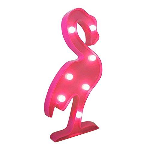 Lumière de Nuit Guirlande Flamant Rose Décor de Bureau à Conduit à Piles Lampe de Photo Blanc Chaud