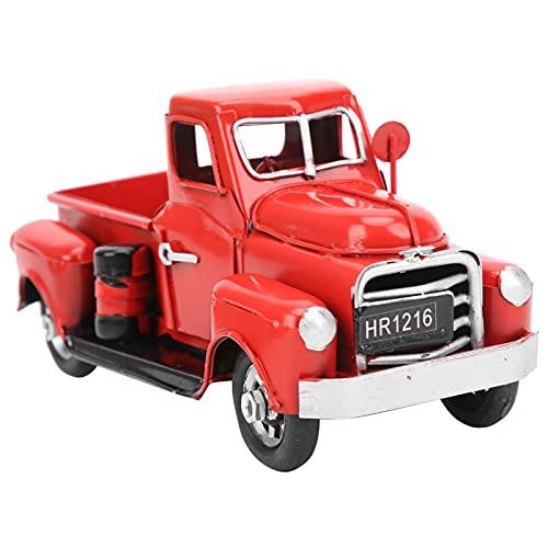 KUIDAMOS Modello di camioncino, Modello di Camion da Tavolo Modello di camioncino Vintage in Metallo Classico Country Vintage Decorazione da Tavolo squisita per la Decorazione della Stanza per Gli